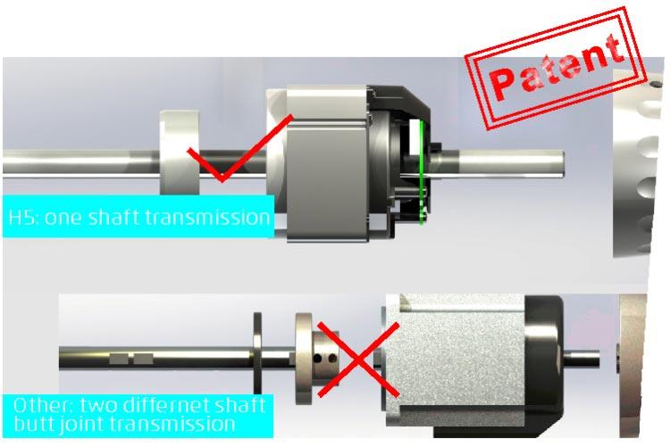 Machine à coudre industrielle Jack H5 - Arbre d'un seul tenant
